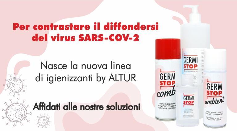 Nasce Germi Stop - la linea di igienizzanti by Altur