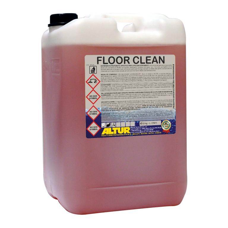 Floor Clean detergente pulizia pavimenti officina industria carrozzeria per macchine lavapavimenti
