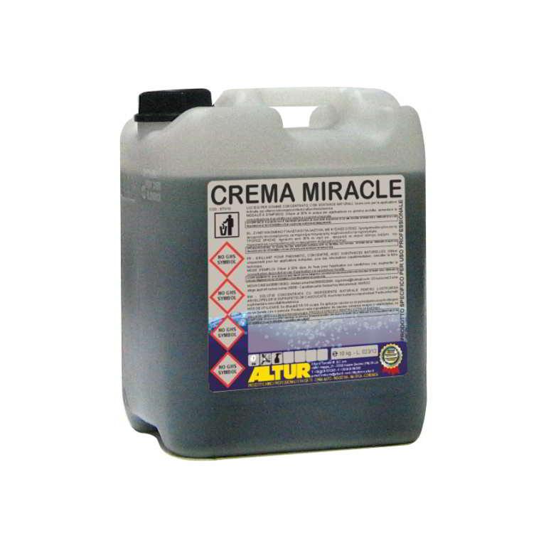 Crema Miracle detergente lavamani semifluido per uso professionalesenza abrasivi sgrassante oli minerali grassi e sporco pesante