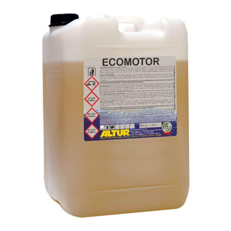 Ecomotor detergente sgrassante concentrato a base acqua per vasca a caldo senza solventi non tossico e non nocivo