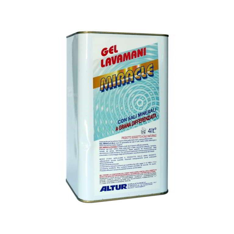Gel Miracle Rosso gel detergente per mani con microgranuli professionale per sporco pesante