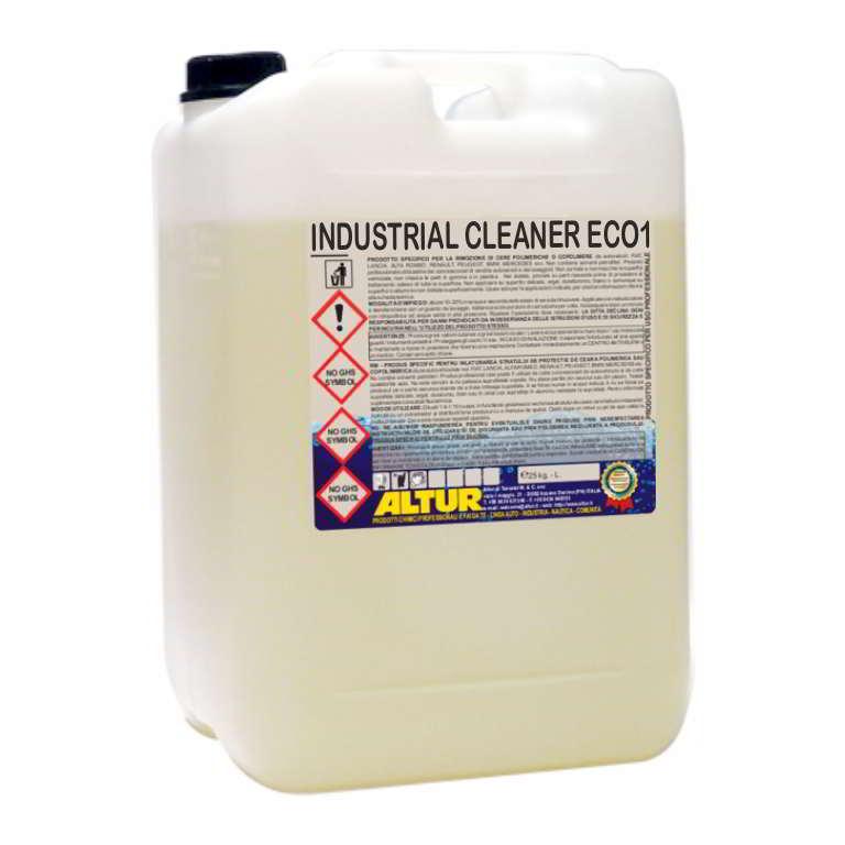 Industrial Cleaner Eco1 sgrassante per pulizia parti meccaniche sostituto ai solventi