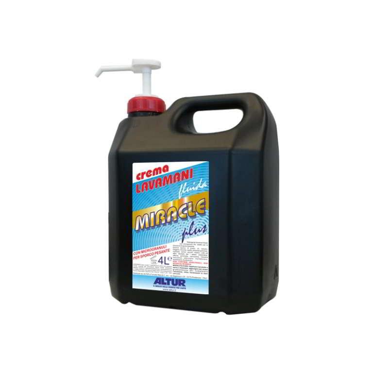 Miracle Plus pasta lavamani fluida con microgranuli fini per rimozione sporco pesante